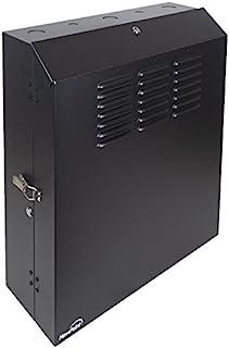 NavePoint 5U 低调垂直壁挂式箱 50.8cm 开关深度贴片面板橱柜黑色