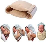 新生儿男孩女孩照片拍摄填料姿势配件垫海报,婴儿照片道具包装垫适用于专业照片婴儿摆姿势道具