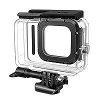 FINPAC 防水外壳,适用于 GoPro Hero 9,透明 60 米/196 英尺水下潜水保护袖配件外壳带支架和触摸面板适用于 GoPro Hero 9 黑色运动相机
