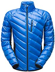 SPYDER 男式 Syrround 混合全拉链防水夹克,适合冬季运动