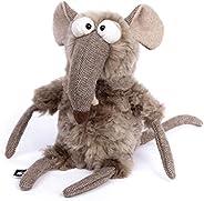 sigikid BEASTS 毛绒动物玩具,适用于成人和儿童,老鼠,快速和脏,野兽城,灰色,39161
