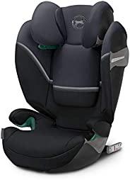 Cybex Gold Solution S i-Fix 儿童汽车椅 适用于带/不带ISOFIX的汽车,2/3组(15-36公斤),约3-12岁,花岗岩黑
