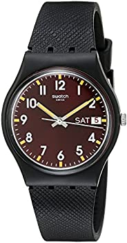 Swatch 中性款 GB753 Originals 模拟显示瑞士石英黑色手表