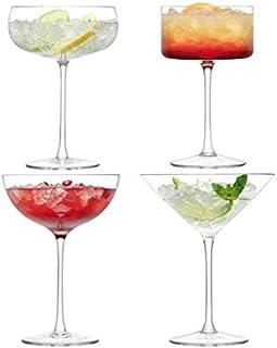 LSA International LL05 Lulu 香槟/鸡尾酒杯 200-310ml 透明混装 x 4