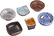 Ranchant 六客餐具套组 多色 直径7.7x2.86.3x6.3x2.34.8x4.8x4.27.5x7.5x3.5直径7.8x3.4直径7.5x2.8厘米 金彩型变 有田烧 日本制造