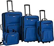 Rockland 行李旅行软边直立套装 蓝色 4-Piece Set (14/19/24/28)