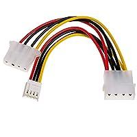 Akyga AK-CA-14 Molex Male to Molex/Mini Molex 母端适配器电缆 15 cm
