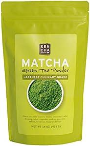 Sencha Naturals Culinary Grade, Organic Matcha Powder, 16 Ounce