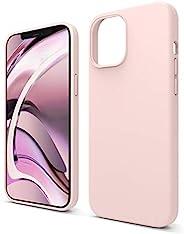 elago 兼容 iPhone 12 Pro Max 手机壳,液体硅胶手机壳适用于 iPhone 12 Pro Max 6.7 英寸 [可爱粉色] - 全身保护(屏幕和相机保护)