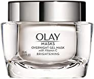 Face Mask Gel by Olay Masks, Overnight Facial Moisturizer with Vitamin C for Brighter Skin, 1.7 Fl Ounce