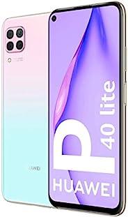 Huawei 华为 P40 Lite 智能手机,128GB,6GB 内存,双卡,浅粉色/蓝色