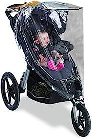 Graco 葛莱 慢跑婴儿车防雨罩,通用尺寸,适合大多数慢跑婴儿车,防水,防风,透气,保护,婴儿车,乙烯基,透明塑料