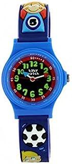 Watch Abc Soccer Baby-Boy's Watch Analogue Quartz way 6 Years-Blue Plastic Strap Blue Dial