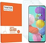TANTEK 坦塔克 [3 件裝] 三星 Galaxy A51,6.5 英寸屏幕保護膜,鋼化玻璃膜,超清晰,防劃傷,無氣泡,外殼友好