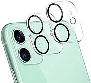 JanCalm 適用于 iPhone 12 相機鏡頭保護膜,超薄高清透明,防刮,防指紋,易于安裝,保護套友好,9H 硬度鋼化玻璃專為 iPhone 12 設計鏡頭蓋(6.1 英寸適用于 iPhone 12,透明/黑色)