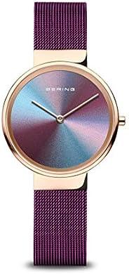 Bering Anniversary 女式手表 10x31 周年纪念 3 玫瑰金和紫色