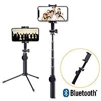 Elecom宜麗客 自拍桿 自拍桿 自拍桿 藍牙遙控器 [360°旋轉] iPhone/AndroidP-SSBTRBK  三腳付(Bluetooth) 2) 45cm 黑色