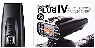 PocketWizard Plus IVe 无线电触发器,增强远程摄影和相机离地闪光的范围和可靠性(黑色)