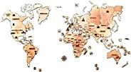 3D 木制地圖模型套裝 The World Map - 3d Wooden Map - Big