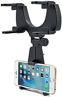 JORCEDI 通用可调节汽车后视镜支架支架适用于手机 iPhone 12 Max GPS,卡扣式手机支架,卡车自动支架支架支架支架伸缩导航支架