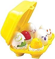TOMY Toomies 皮蛋和吱吱声鸡蛋玩具,婴幼儿教育形状分拣器,儿童学步玩具,适用于6个月和1、2和3岁的男孩和女孩,多种,E1581