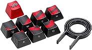 ROG 游戏钥匙帽套装,高级纹理侧灯设计,适用于 FPS/MOBA 钥匙,兼容樱桃 MX 开关