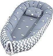 Baby Lounger, Baby Nest and Baby Bassinet, 便携式超柔软透气新生儿躺椅婴儿床, 非常适合共眠和旅行
