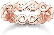 Thomas Sabo 女式戒指无限大 925 纯银;18k 玫瑰金电镀 TR2124-415-12