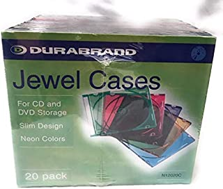 Durabrand 珠宝盒 适用于 CD 和 DVD 存储 20 包