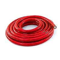 KnuKonceptz Bassik 4 号电源/接地线电缆红色 25 英尺线圈