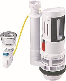 马桶水箱维修套件 - 将标准马桶水箱零件转换为*水脊马桶双冲洗阀适合大多数 2 英寸冲洗排水管两件式马桶水箱 - 带 38 毫米按钮(白色)