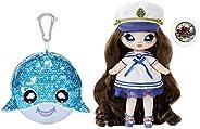 "MGA Entertainment Na! Na! Na! 惊喜二合一时尚娃娃,闪亮亮片钱包闪耀系列– Sailor Blu,7.5"" (约19.05厘米)Sailor娃娃"