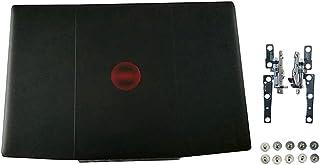 Eclass LCD 后盖 & 铰链和螺丝套装 黑色 0YGCNV 适用于 Dell 戴尔 Inspiron Gaming G3 15 3500 G3 15 3590 红色标志顶盖 带铰链套件 10 件螺丝后盖 YGCNV