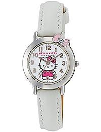 [西鐵城 Q&Q]CITIZEN Q&Q 手表 Hello Kitty 指針式 日常生活防水 白色 HK23-002 女孩