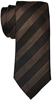 HUGO BOSS 雨果博斯 男式黑白条纹 50274809 丝绸领带 BOSS4333