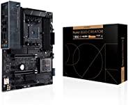 ASUS 华硕 ProArt B550-Creator AMD (Ryzen 5000/3000) ATX 内容创建器主板(Thunderbolt 4,Dual M.2,PCIe 4.0,Dual 2.5 Gb LAN,