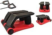 INTBUYING 踏步器 健身樓梯踏步器 便攜式扭動樓梯踏步器 可調阻力健身運動器 帶阻力帶 LCD 顯示屏和舒適的腳踏板