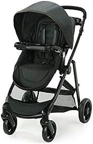 Graco 葛莱 Modes Element 婴儿车 | 带可翻转座椅的婴儿推车,额外存储,儿童托盘,Gotham