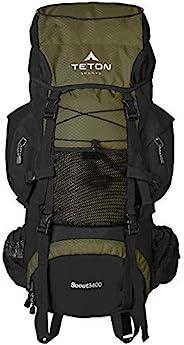 TETON Sports Scout 3400 内框背包;高性能背包,适用于背包、徒步、露营