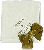 Maison de Fleur 丝绒蝴蝶结毛巾手帕 8A03F1R0400