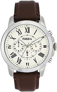 Fossil 男式 Grant 不锈钢石英计时手表