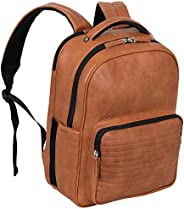 Kenneth Cole On Track Pack 人造皮革15.6英寸笔记本电脑和平板电脑书包防盗 RFID 背包,适用于学校、工作和旅行
