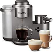 Keurig K-Cafe 特别版单杯 K-Cup Pod 咖啡、拿铁和卡布奇诺咖啡机,带洗碗机*奶泡机,射击能力,镍