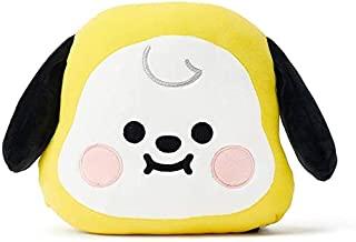 毛绒填充动物可爱脸玩具软枕头房装饰 婴儿黄色枕头