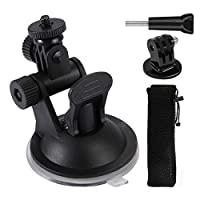 吸盤支架適用于運動相機,相機吸盤支架適用于 GoPro HERO8/7/6/5/4/3/2,小巧堅固耐用,非常適合將運動相機安裝在汽車、船、摩托車等 - WedTex