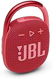 JBL Clip 4:便携式音箱带蓝牙,内置电池,防水防尘功能 - 红色