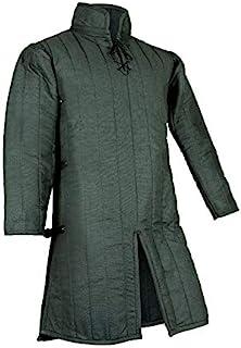 中世纪厚加厚全袖 Gambeson 外套 Aketon 夹克盔甲,棉质面料