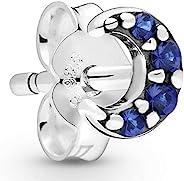PANDORA My Moon 蓝色 925 纯银单耳钉 - 298534C01