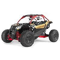 Axial Yeti Jr.Can-Am Maverick X3 RC Rock Racer 4WD 拉丝越野侧边 1/18 比例 RTR(包括 2.4 GHz 发射器、电池和充电器):AXI90069