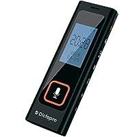 数字语音激活录音机 w/密码保护 - HQ 录音 60 英尺,记录讲座和会议、敏感麦克风、自动降噪、582 小时播放、小便携、USB、8G